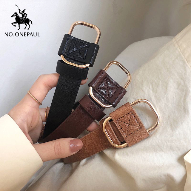 New fashion designer ladies luxury authentic leather belts 5