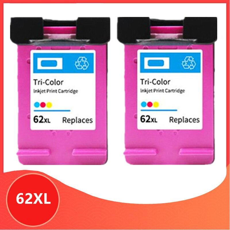 2 Цвет совместимый для 62XL чернильный картридж для hp 62 для hp 62 5640 5660 7640 5540 5544 5545 5546 5548 Officejet 5740 5741 5742
