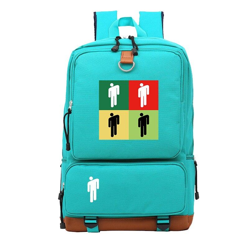 Купить с кэшбэком Billie Eilish New Printed Schoolbag Boys and Girls Backpack Elementary School Backpack Backpack Backpack Outdoor Backpack