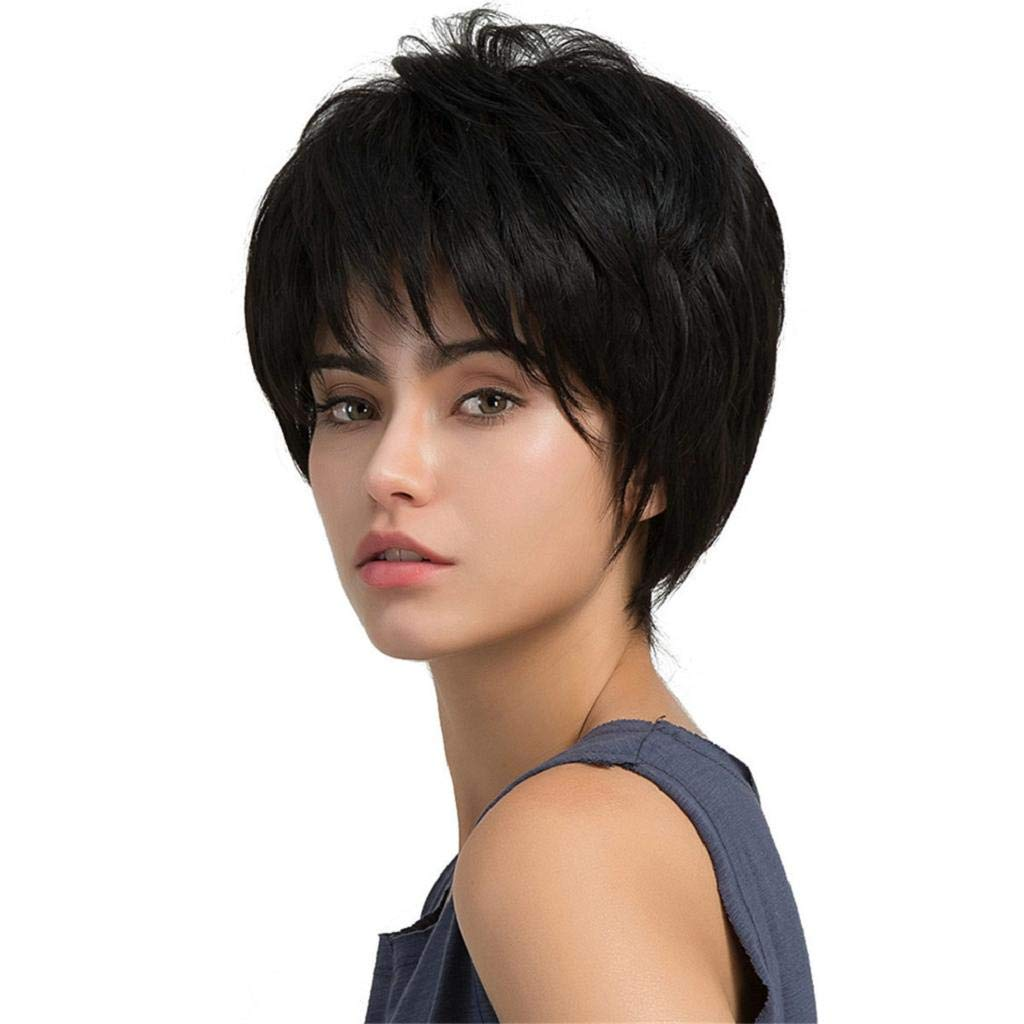 Human Hair Short Pixie Wigs Short Human Hair Layered Cut Wigs For White Women Eseewigs