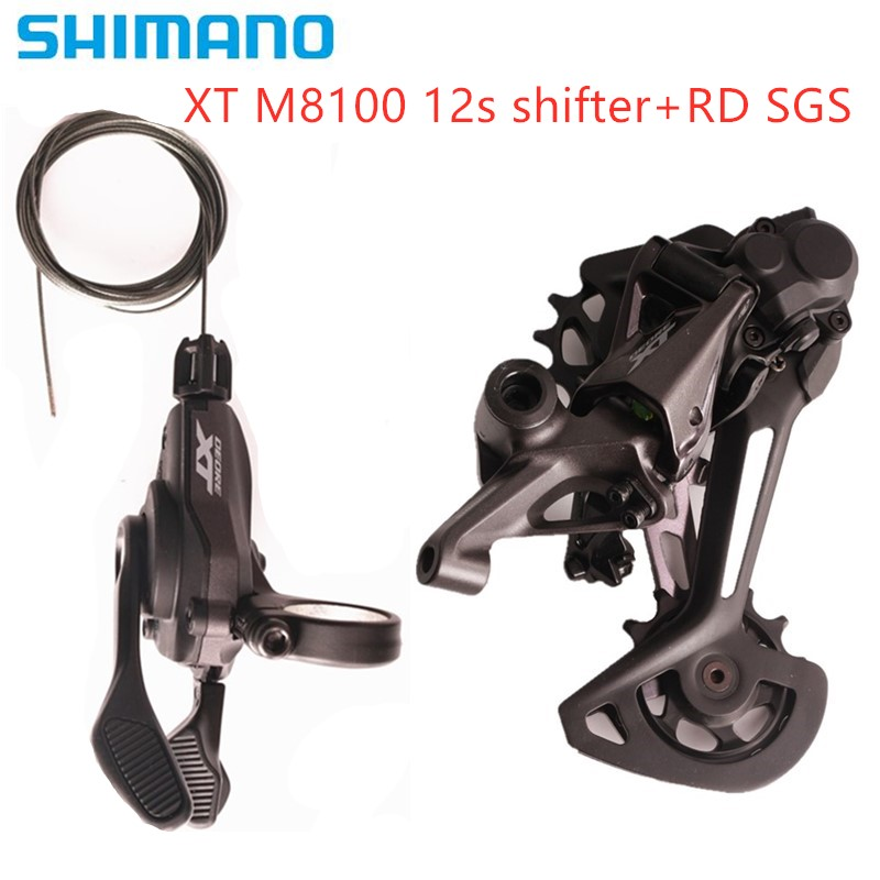 SHIMANO DEORE XT M8100 1x12-Speed Groupset Mountain Bike Groupset M8100 Shifter LeverSL + RD original M8100 SGS Rear Derailleur image