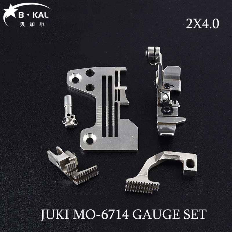 JUKI MO-6714 2X4.0 Four lines gauge set overlock sewing machine parts R4305-J6E-E00/121-72003/118-76851/122-75509