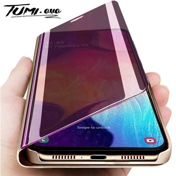 Lustro telefon z klapką etui do Samsung Galaxy A11 A31 A51 A71 A81 pokrywa dla Samsung Galaxy S20 Ultra S10 Plus S10E uwaga 10 Pro okładka tanie i dobre opinie TUMI OvO Etui z klapką Smart Sleep Leather Case A21 A41 A91 A10 A20 A30 A40 A50 A70 A80 Cases GALAXY serii GALAXY S10 LITE