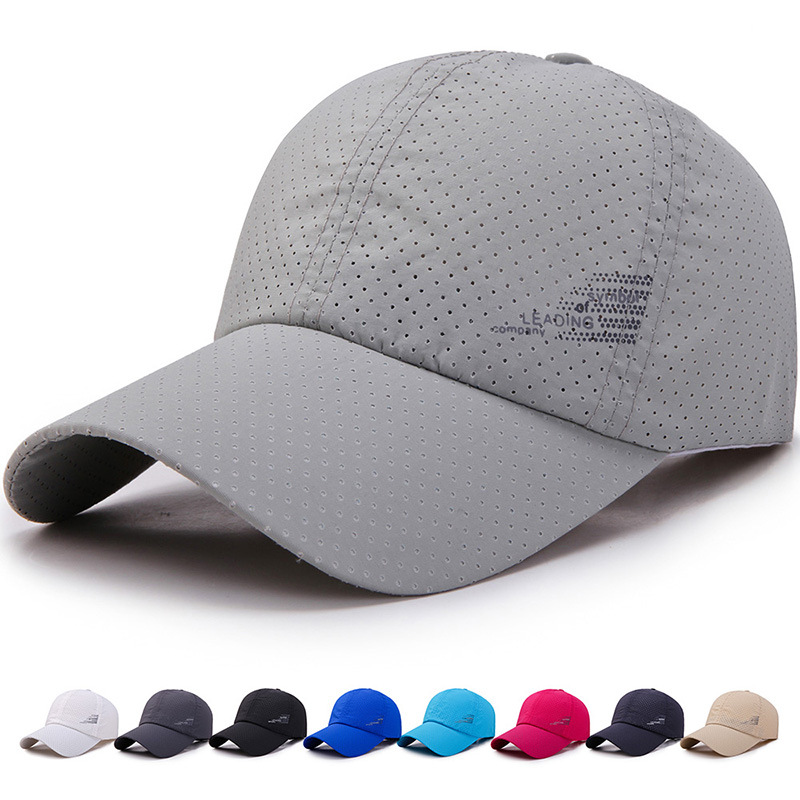 New Men Women  Summer Baseball Cap  Quick Drying  Hats Unisex Breathable Sport  Pure Color Snapback Hat Bone