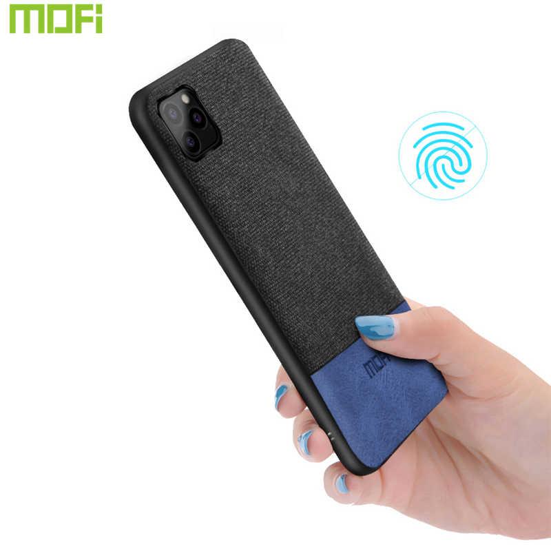 Para o iphone 11 pro max caso 2019 caso de telefone para o iphone 11 caso para o iphone 11 pro capa pano preto escuro azul 5.8 6.1 6.5 capa