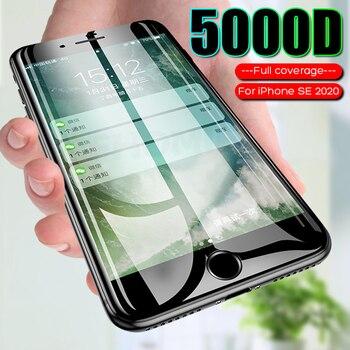 Перейти на Алиэкспресс и купить Закаленное стекло для iPhone SE 2020 7 6 8 Plus, Защита экрана для iPhone 11 Pro Max X XR XS Max 6 7, защитное стекло
