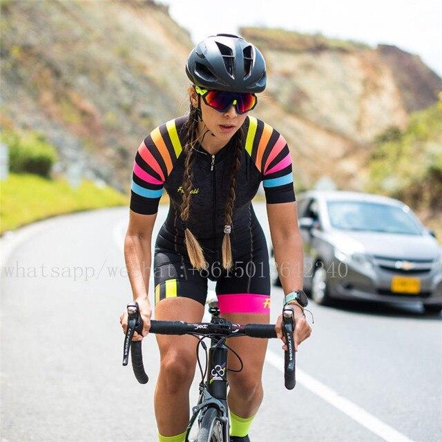 Bicicleta de estrada fresi roupas femininas roupas ciclismo sexy macacão colômbia downhill terno triathlon esportes skinssuit ropa de ciclismo 1