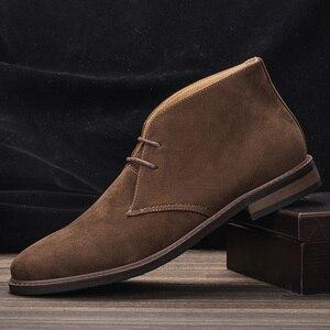 Men's Leather Boots Casual Shoes Size 7~12 Fashion Comfortable Men's Ankle Desert Boots #KD582
