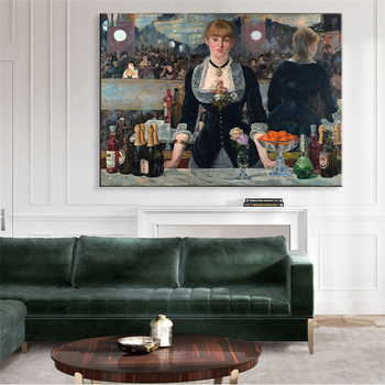 Edouard Manet A Bar At The Folies Oil Painting Canvas 2