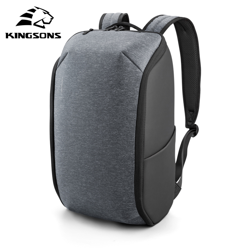 Image 4 - Kingsons Multifunction Men 15 inch Laptop Backpacks  Fashion Waterproof Travel Backpack Anti thief male Mochila school bags hot-in Backpacks from Luggage & Bags