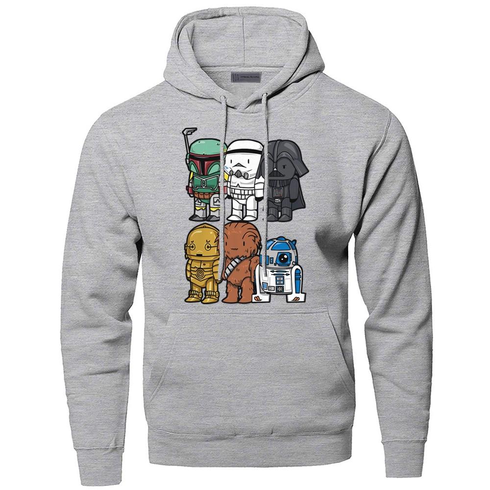 Star Wars Hoodies Sweatshirts Men Yoda Darth Vader Hooded Sweatshirt Hoodie Winter Autumn Fleece Streetwear Starwars Sportswear