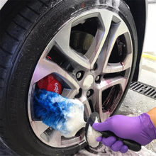 Car Wheel Wash Brush Plastic Handle Vehicle Cleaning Brush Wheel Rims Tire Washing Brush Auto Scrub Brush Car Wash(China)
