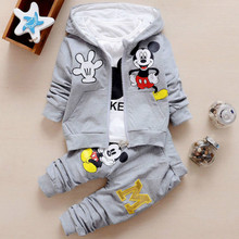 Toddler Baby Girls Boys Clothing Sets Spring Autumn Kids Outfits Hoodie+T-shirt+Pants 3pcs Tracksuit Children Clothes Sport Suit