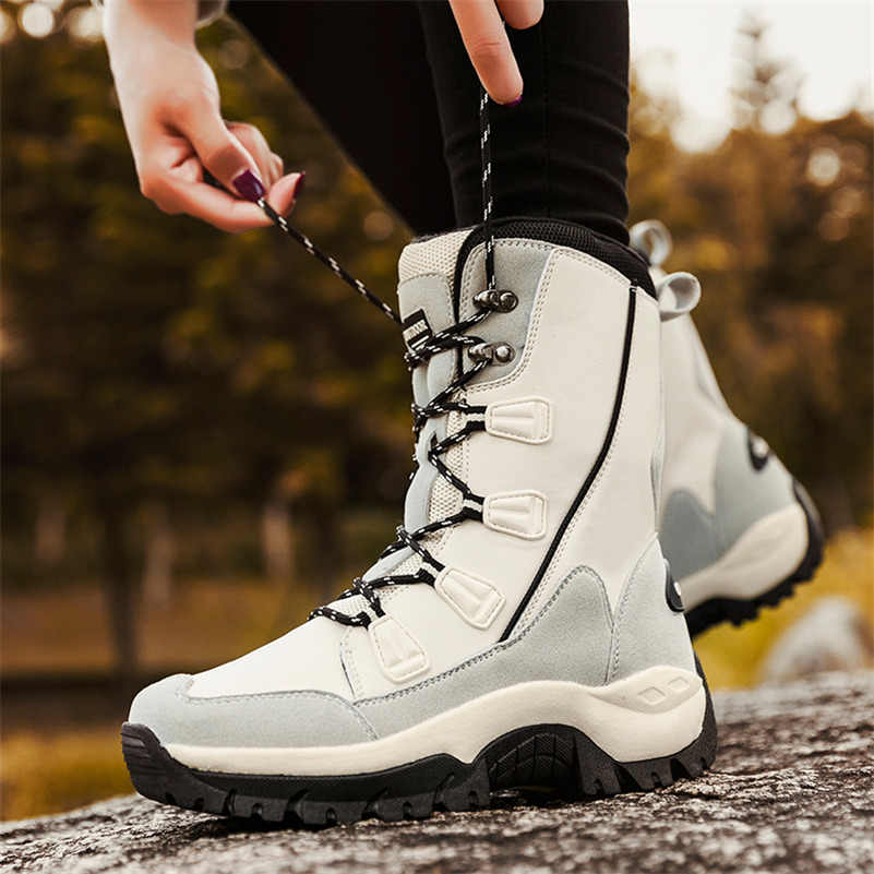 FEDONAS Inek Süet Deri Kadın yarım çizmeler Kış sıcak Platformları Kar Botları Çapraz bağlı rahat ayakkabılar Kadın Artı Boyutu kısa çizmeler