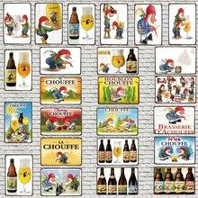 Belgian Beer Decorative Signs Plaque Metal kitchen Vintage Wall Music Bar Home Restaurant  Art  Man Cave Decor 30X20CM DU-4910A
