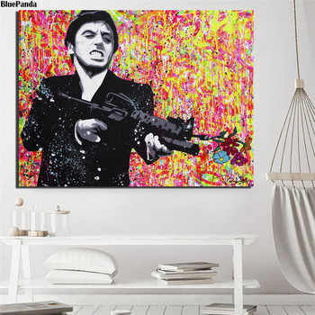 Póster de lienzo de Tony Montana para decoración del hogar, pintura moderna...