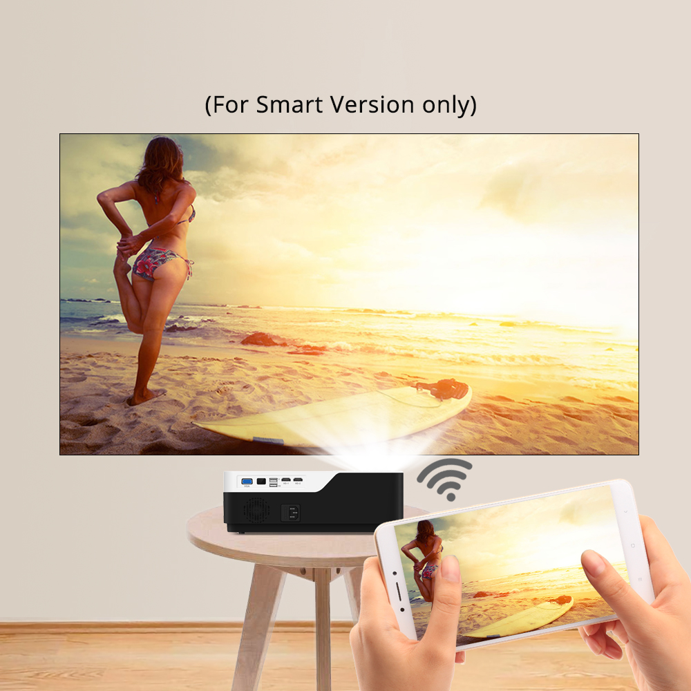 Image 5 - BYINTEK MOON K11 Smart Android Wifi 200inch 1920x1080 1080P FULL HD LED Video Projector with HD USB For Home Theater Cinema-in LCD Projectors from Consumer Electronics