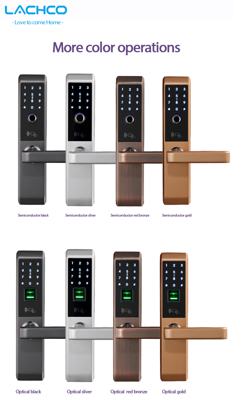 H51943e5a841642388d7b115b8a37d929A LACHCO 2019 Biometric Fingerprint Electronic Smart Door Lock, Code, Card,Touch Screen Digital Password Lock Key for home Ak18A3F