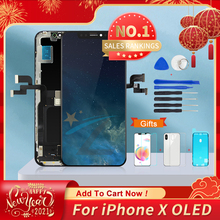 AAA+++ For iPhone X OLED With 3D Touch Digitizer Assembly No Dead Pixel LCD Screen Replacement Display For iPhoneX LCD with Gift