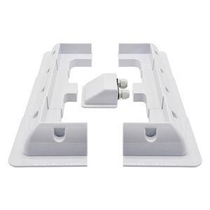 Image 1 - Beyaz ABS GÜNEŞ PANELI montaj braketleri Z montaj braketi seti ve çerçeve seti kamp RV tekne güneş stand braketi