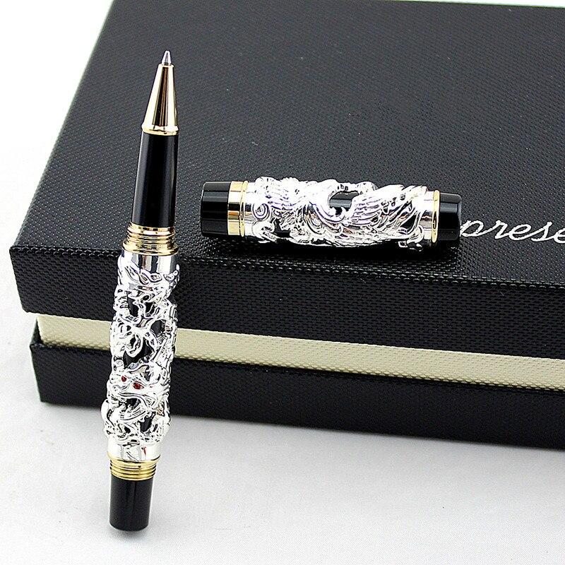 Jinhao luxo rolo bola canetas dragão phoenix