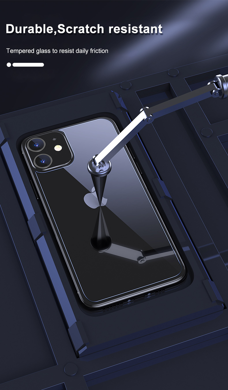 iPhone 12 Tempered Glass Case