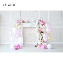 Laeacco воздушные шары на день рождения ребенка цветы камин торт фотографии фоны индивидуальные фотографический фон для фотостудии