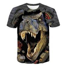 Костюм на Хэллоуин футболка с динозавром для мальчиков одежда