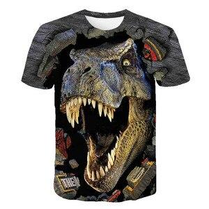 Halloween Costume Dinosaur t shirt For Boys Clothes Children T-shirt Animal Baby Boy t shirt Kids Short Sleeve Girls Clothing