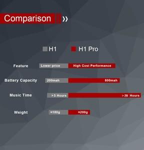 Image 4 - REZ H1 Pro Bluetooth kulaklıklar kablosuz kulaklık aşırı kulak gürültü HiFi Stereo iptal oyun kulaklığı Mic ile destek TF kart