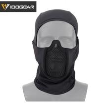 IDOGEAR Tactische Bivakmuts Masker MESH Airsoft Mask Full Face Airsoft Masker Camo Beschermende kleding 3612