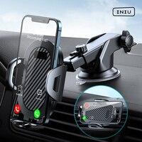 INIU enayi araç telefonu tutucu dağı standı GPS Telefon cep iPhone için destek 12 11 Pro Max X 7 8 artı Xiaomi Redmi Huawei