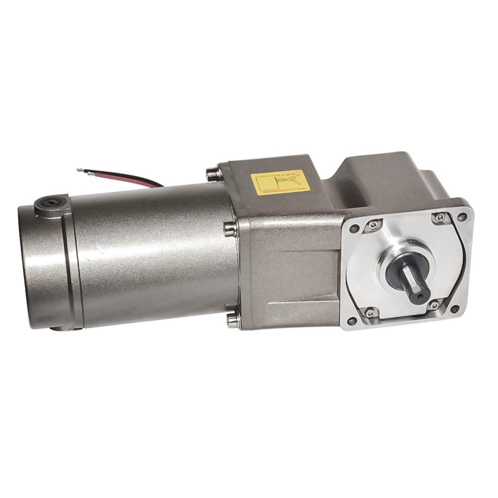 Motor alto opcional da engrenagem do torque cw ccw da velocidade 3-120 rpm da engrenagem do ângulo direito da cabeça da engrenagem de 5 gura motor 300 w da caixa de engrenagens da c.c. 12 v 24 v 90 v com