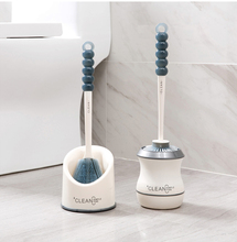 Portable Toilet Brush Toilet Cleaning Brush Holder Scrubber Curved Clean Side Bending Handle Corner Brush Holder Set недорого