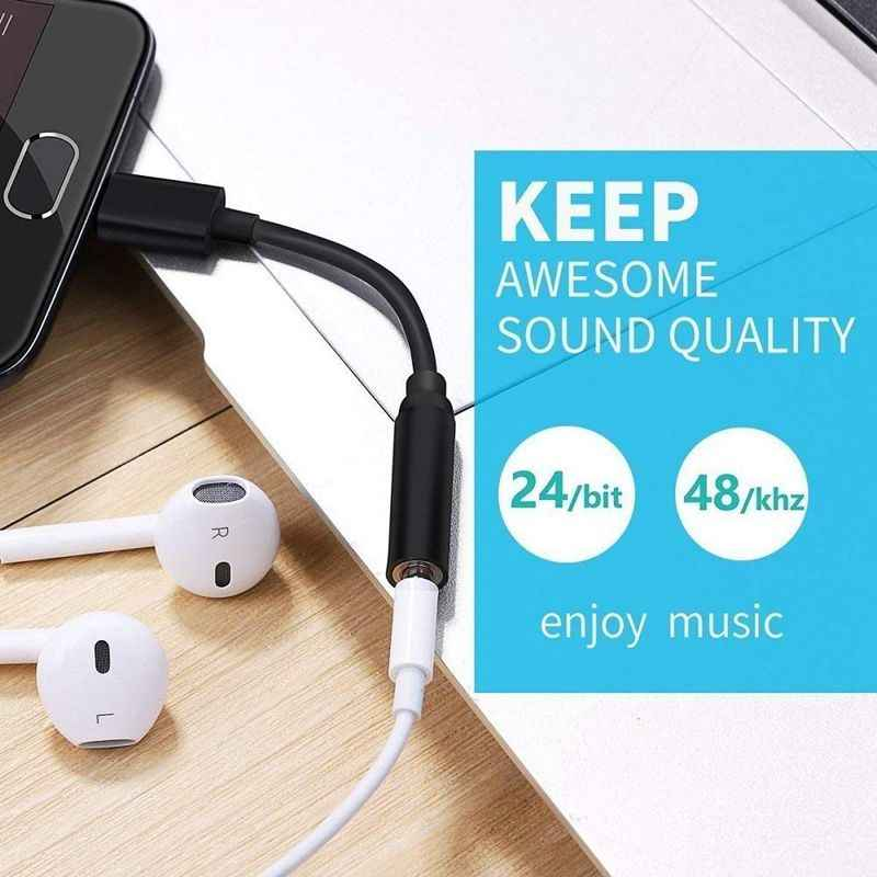 AMS-USB C a 3,5mm auriculares/auriculares Jack Cable adaptador, tipo C 3,1 Puerto macho a 3,5mm hembra Audio estéreo auriculares Aux Connec