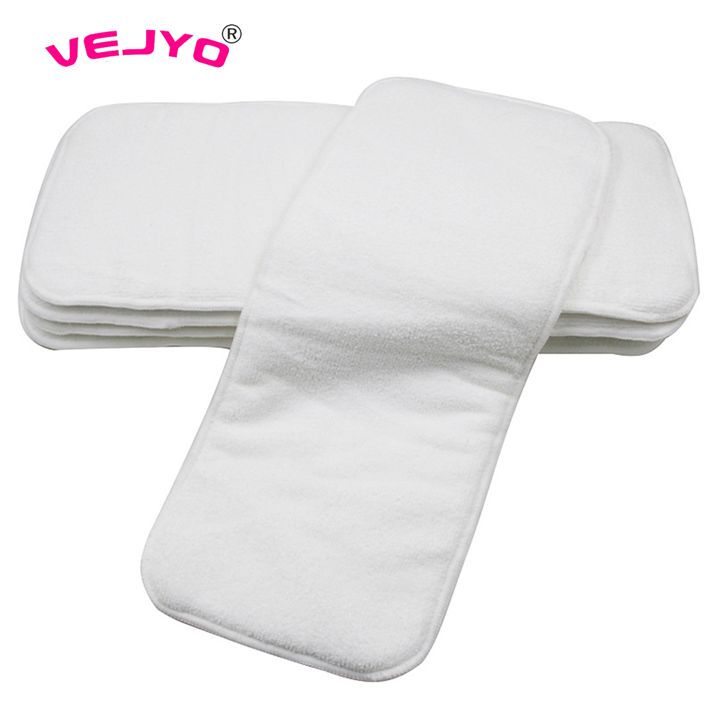 60pcs lot Washable and Breathable Baby Diaper Napkin Modern Cloth Inserts Baby Nappy Liners Eco Baby