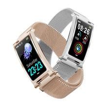 ONEVAN Smart Horloge Hart Armband Bloeddruk Zuurstof Monitor Weer Activiteit Tracker Vrouwen Fitness Armband Met Metalen Band