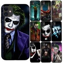 Mroczny rycerz Joker Karta miękka czarna skrzynka dla Coque iPhone 12 11 Pro Max X XS Max XR 8 7 6 6S Plus 5S SE 2020 silikonowa obudowa telefonu