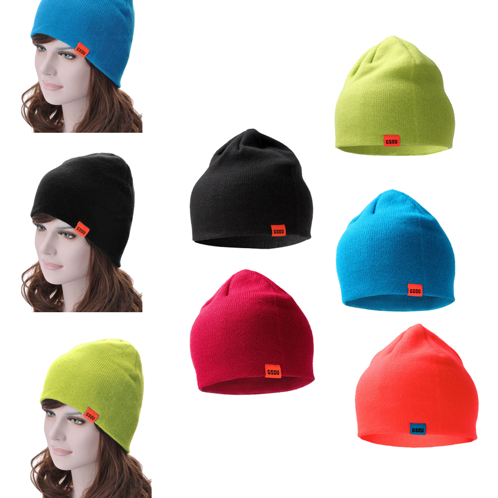 Warm Winter Knitted Hat Cap Solid Color Beanie Skull Hat Unisex Men Women Outdoor Sports Accessories