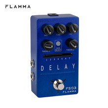 Flamma fs03 efeitos de atraso guitarra pedal estéreo atraso 6 efeitos de atraso com 80s looper storable presets tap tempo trilha em