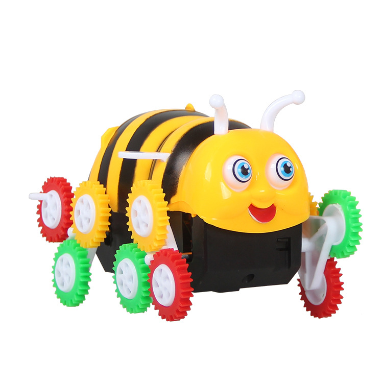 Children Electric Bees Car Boxed Toy Car Cai Lun Automatic Flipping Small Bees Dump Truck Toy