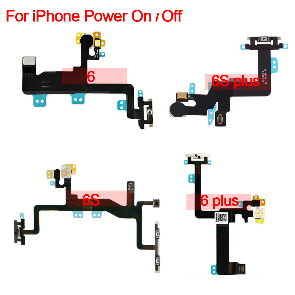 Original For IPhone 6 6S Plus 4 4S 5S Power On Off Switch Button Light Sensor With Earpiece Bracket Flex Cable Replacement Parts