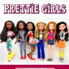 39cm Fashion BJD Dolls 15 Ball Jointed Doll Pretty Girl Black Toy With Fashion Suit Makeup Girls DIY BJD Dolls Dress UP Toys
