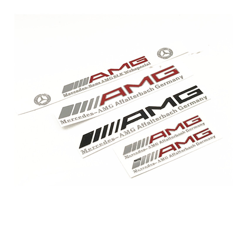 AMG Metal Thin Paste C Of E Of Car Stickers Car Adhesive Paper Nickel Alloy Adhesive Paper Car Supplies