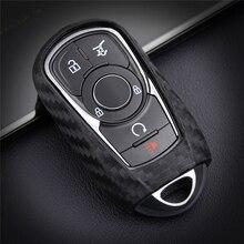 Carbon Fiber Silica Gel Car Key Case Cover For Opel Vauxhall Mokka Encore Astra Corsa E Insignia Zafira G H For Buick Chevrolet