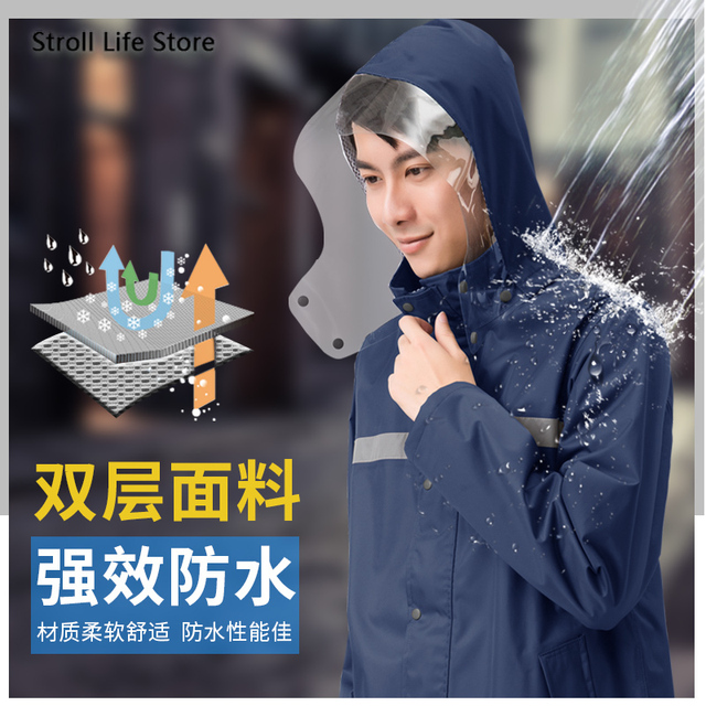 Electric Motorcycle Rain Coat Men Raincoat Rain Pants Set Waterproof Reflective Poncho Chubasquero Rainwear Fishing Raincoat 1