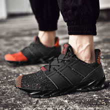 Fashion Trendy Blade Men Shoes Comfortable Light Breathable Run Sneakers Increase Flyknit Outdoor Flats Plus Size
