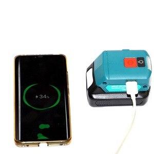 Image 5 - Ulepszony Adapter do Makita ADP06 12V BL106/BL02/BL104/BL03/BL02 USB CXT akumulatorowe źródło zasilania litowo jonowego ze światłem LED