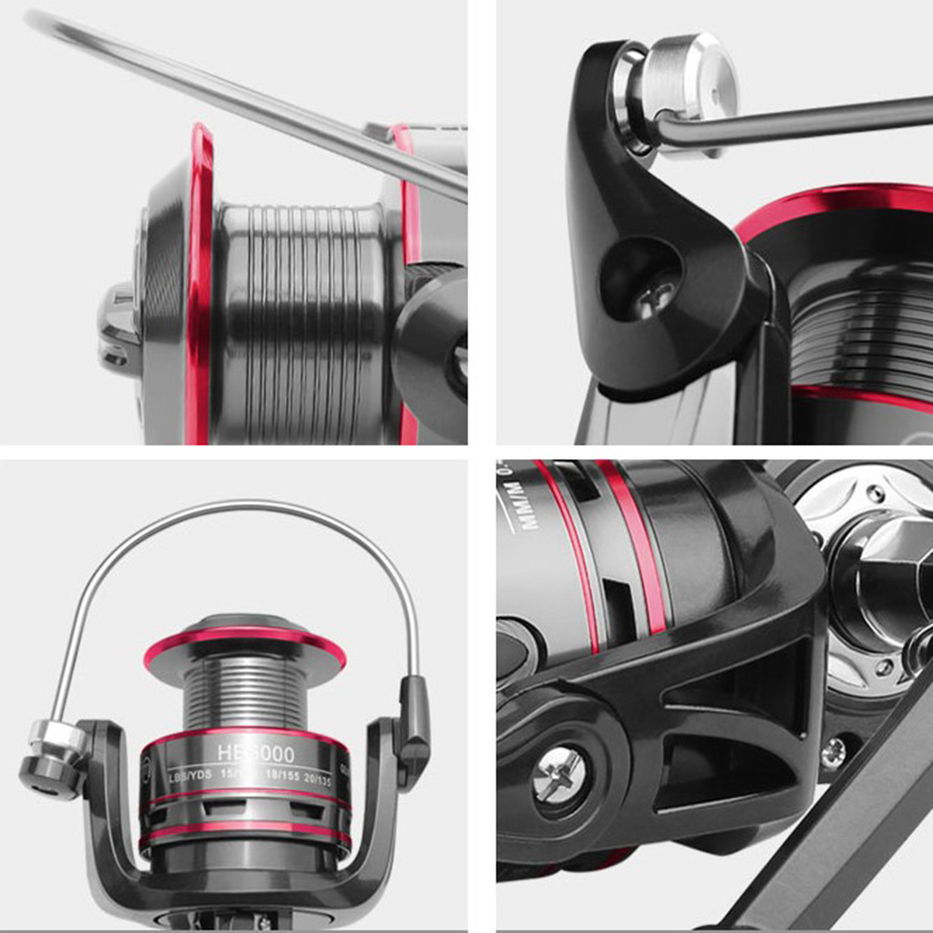 Spinning Reel Stainless Steel Handle Saltwater Fishing Reel with Full Metal Body 8kg Max Drag System Fishing Tackle