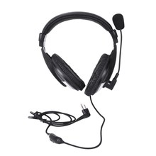 Heavy-Duty Two-Earphone Headset Boom Mic For Baofeng/Hyt/Tyt/Wouxun Md380 F8Hp(China)